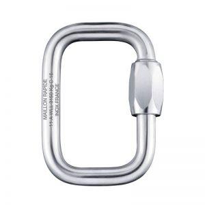 Inox schroefkarabijn 6mm, ideaal voor de verbinding harnas-sling 2x, te verkrijgen bij ikarus.be!