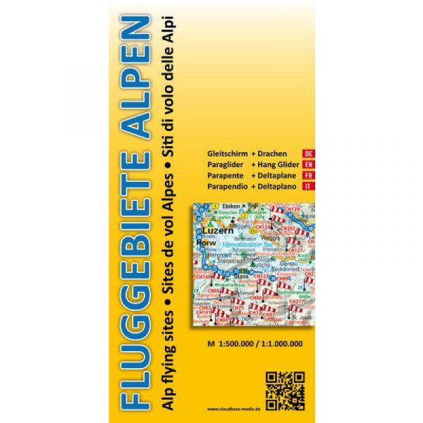 Vliegplaatskaart Alpen, ... te koop bij ikarus.be!